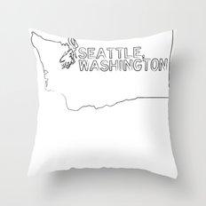 SEATTLE WASHINGTON//TWO Throw Pillow