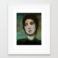Portrait of a Girl Framed Art Print