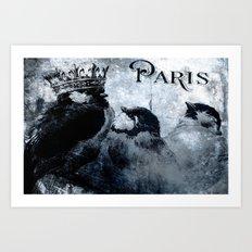 Paris Birds Art Print
