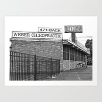 Art Print featuring Highway 99 Chiropractic  by Vorona Photography