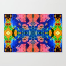 Psychedelic Pink Blue Fractal Canvas Print