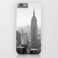 iPhone & iPod Case featuring Manhattan - Empire State Building Panorama | B/W by Thomas Richter