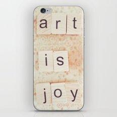 Art Is Joy iPhone & iPod Skin