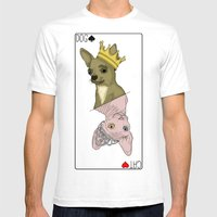 Dog & Cat Card  Mens Fitted Tee White SMALL