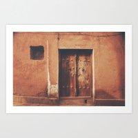Abyaneh Door #4 (from the series 'Iranian Doors') Art Print