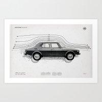 Aerodynamic Technology Art Print