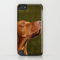 iPod Touch Cases featuring Hungarian Magyar Vizsla portrait by Roberta Jean Pharelli