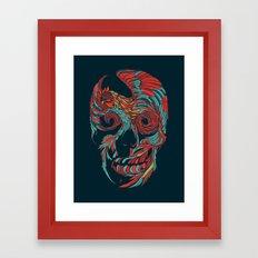 Rooster Skull  Framed Art Print