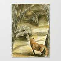 The Tortoise And The Har… Canvas Print