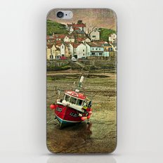 Three Red Boats at Staithes iPhone & iPod Skin