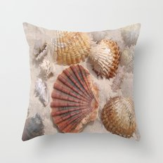 Muscheln lieben Hawaii Throw Pillow