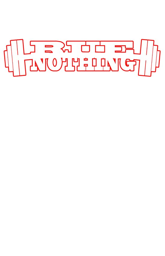 RUE NOTHING WEIGHTS RED Art Print