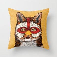 ChickenFox Throw Pillow