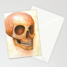 deaths grinning head Stationery Cards
