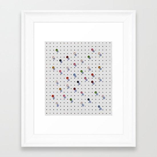 Pin Points Framed Art Print
