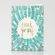Treat Yo Self – Gold &… Stationery Cards