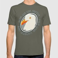 Eat like a seagull Mens Fitted Tee Lieutenant SMALL