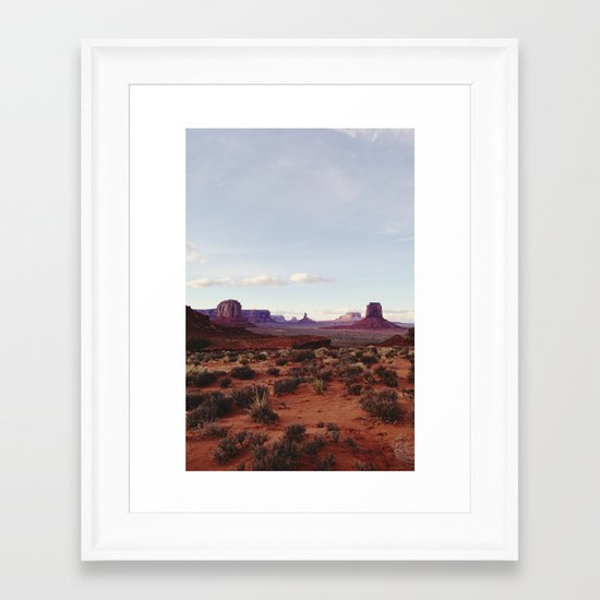 Monument Valley View Framed Art Print