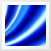 Blue N White Art Print