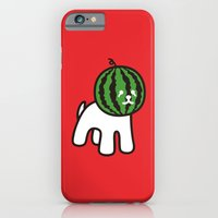 iPhone Cases featuring Watermelon Dog by Kimiaki Yaegashi