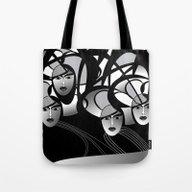 Oriental Women Tote Bag