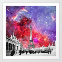 NEBULA VINTAGE PARIS Art Print