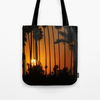 Striped Sunset Tote Bag