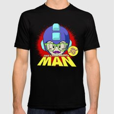 8-bit Smiths - This Charming Mega Man Mens Fitted Tee Black SMALL