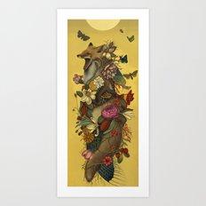 Fox Confessor Art Print