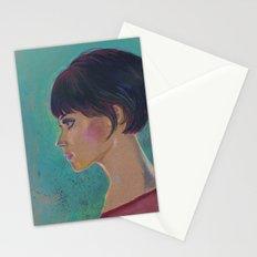 Short Hair I Stationery Cards