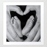 Hearts N Toes Art Print