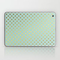 Mint and Gold Dots Pattern Laptop & iPad Skin