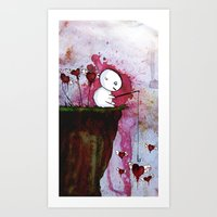 Fishing For Hearts Art Print