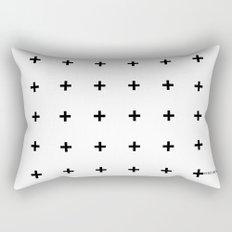 Black Plus on White /// www.pencilmeinstationery.com Rectangular Pillow