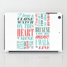 Walk the Line iPad Case