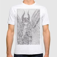 angel or demon Mens Fitted Tee Ash Grey SMALL