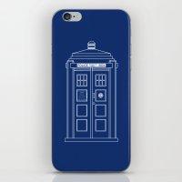 TARDIS Blueprint - Doctor Who iPhone & iPod Skin