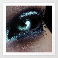 Dark Eye Art Print
