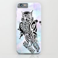 iPhone & iPod Case featuring Owl Tribal by WesSide