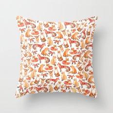 Fox Pattern Throw Pillow