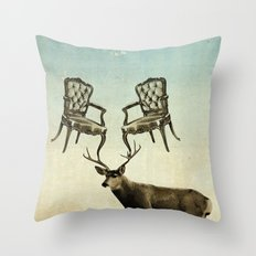 Louis Xv Stag Chairs Throw Pillow