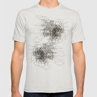 Leaves Mens Fitted Tee Silver SMALL