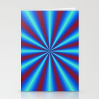 Red And Blue Pleats Stationery Cards