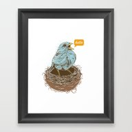 Twisty Bird Framed Art Print