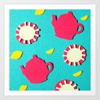 Turquois Tea Art Print