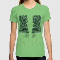 Stripes Womens Fitted Tee Grass SMALL