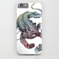 dragon iPhone & iPod Cases featuring dragon by luiza kwiatkowska