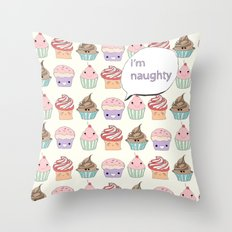 I'm Naughty Throw Pillow