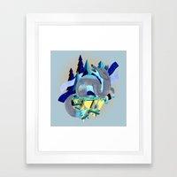 Silver Fox Framed Art Print