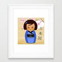Kokeshi Mizuki Framed Art Print